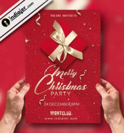 free Merry Christmas Party Flyer PSD Template