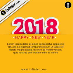 happy new year 2018 wishes greeting social media design psd template