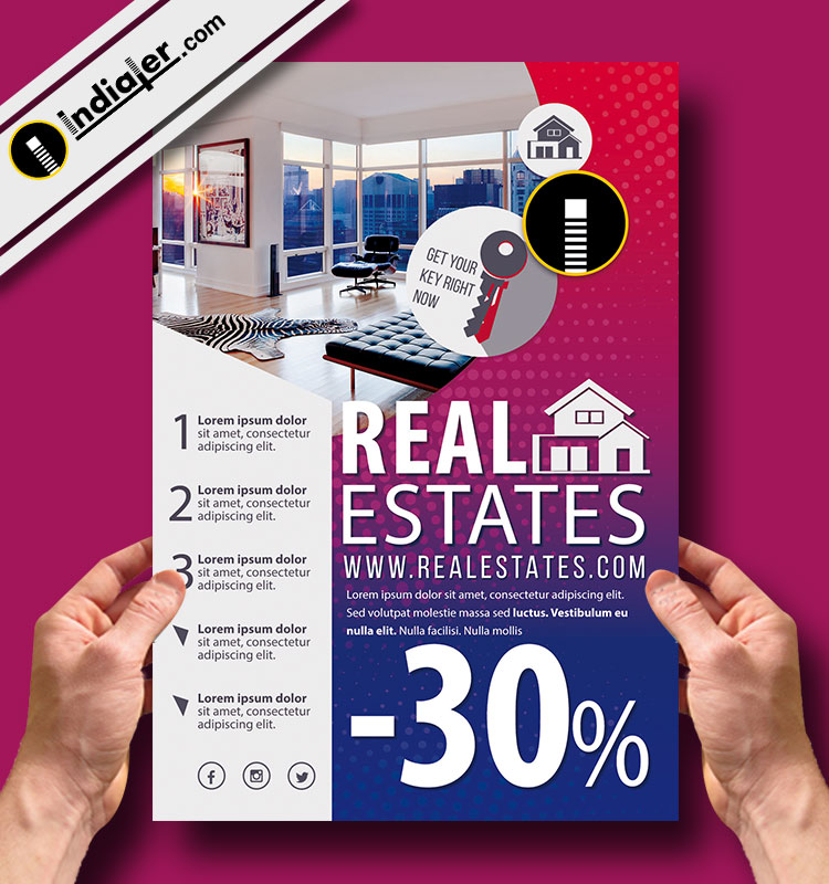 Download The Best Free Real Estate Flyer Template Indiater - Free real estate flyer templates download