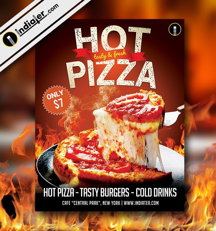 Pizza Restaurant Flyer Free psd Template