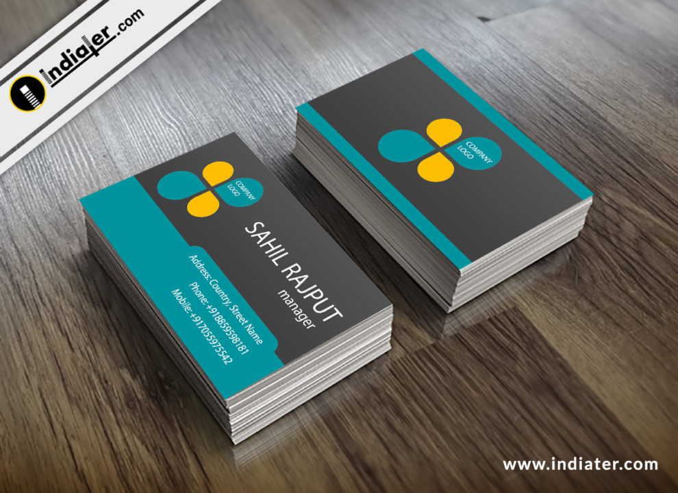 Clean dark business card creative design template indiater clean dark business card creative design template colourmoves