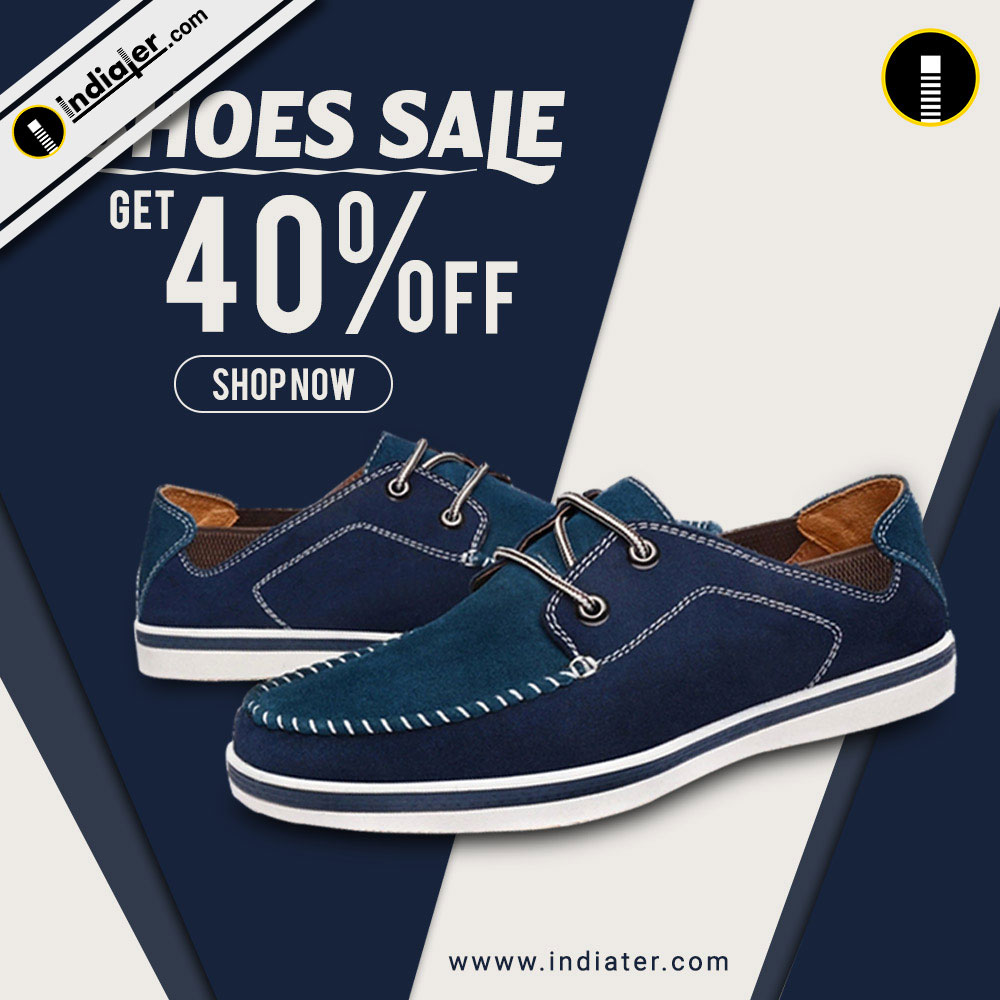 discount banner and ads for online sale brand shoes