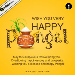 Happy Pongal Holiday Festival Celebration Banner