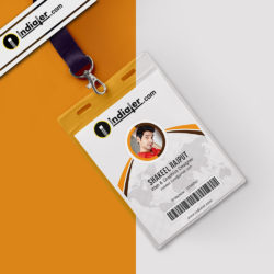 modern office identity card psd template