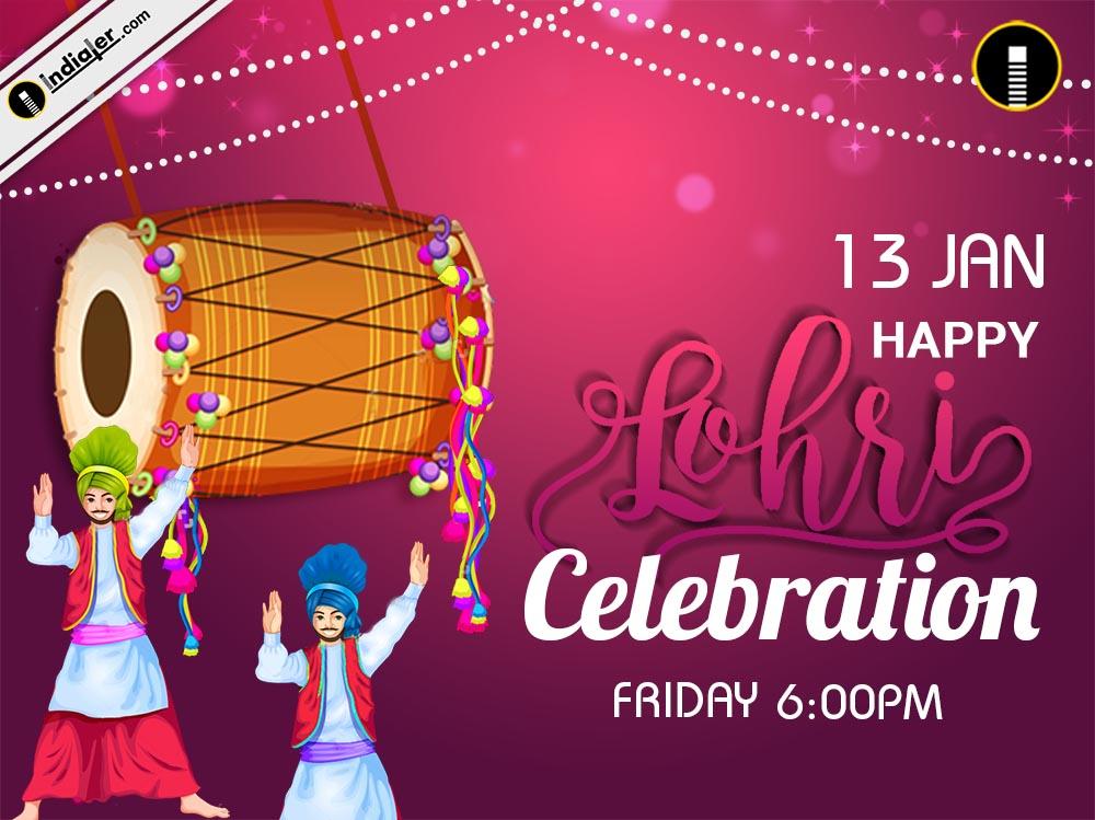 Punjabi festival Lohri Celebration Greetings