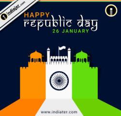 Stock vector celebrates Happy Republic Day