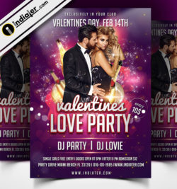 free-psd-valentines-day-love-party-flyer-template