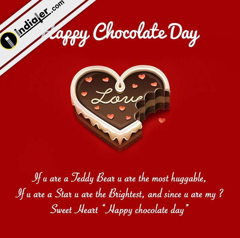 Indiater happy chocolate day wishes greetings card for valentines happy chocolate day wishes greetings card for valentines m4hsunfo