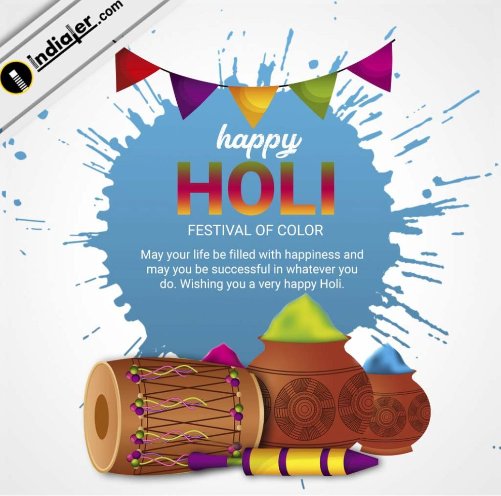 Happy Holi In Advance Wishes Images With Greetings Message Indiater