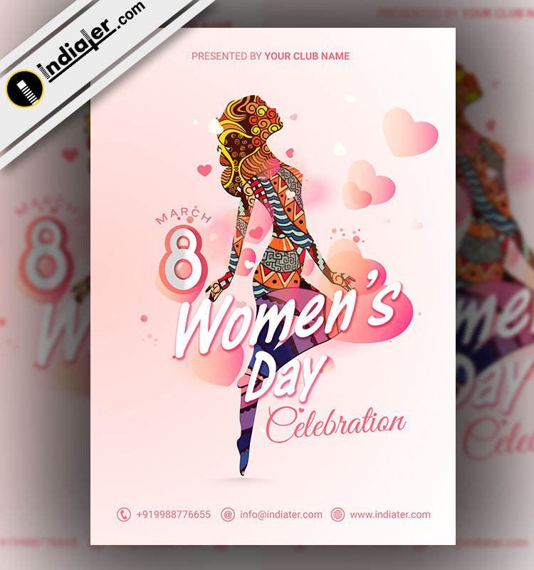 happy-womens-day-flyer-banner-or-emailer-template-with-a-young-girl