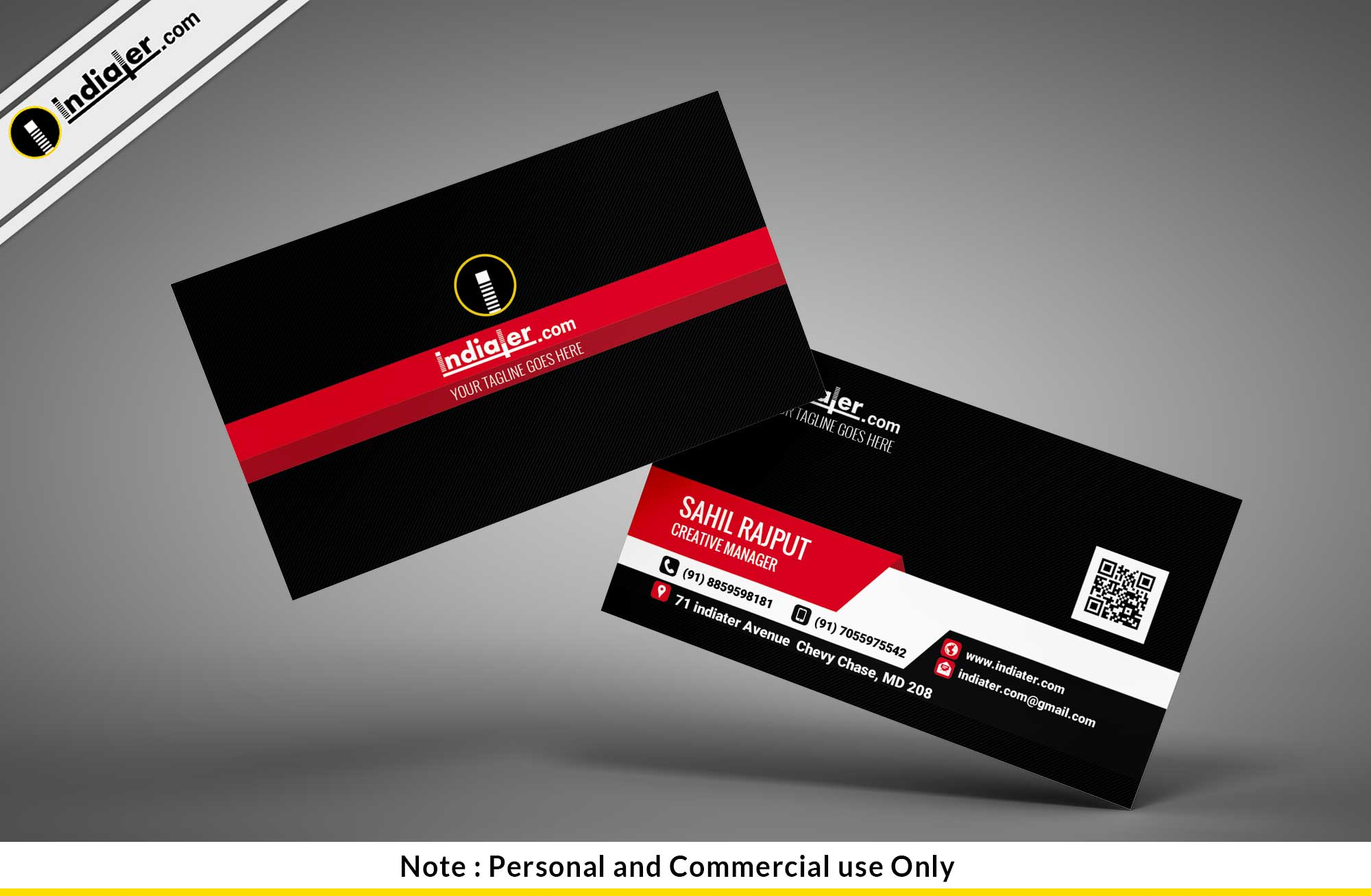 complimentary card design psd template