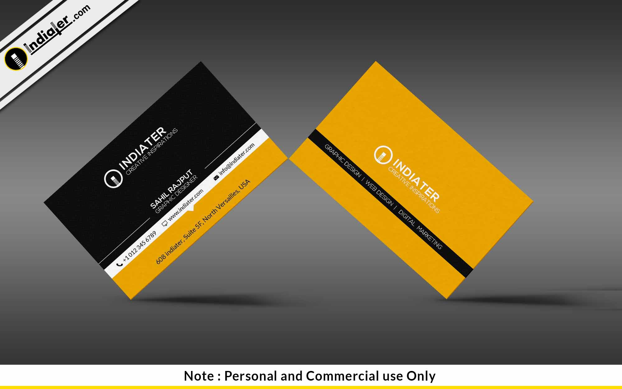 Indiater   Cool Business Card PSD Templates - Indiater
