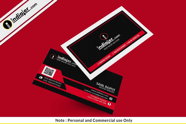 corporate business card editable psd template indiater. Black Bedroom Furniture Sets. Home Design Ideas