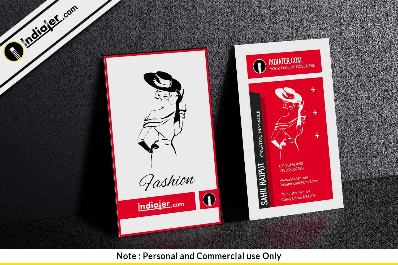 fashion company business card template