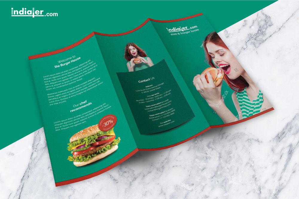 food-menu-tri-fold-brochure-psd-free-front