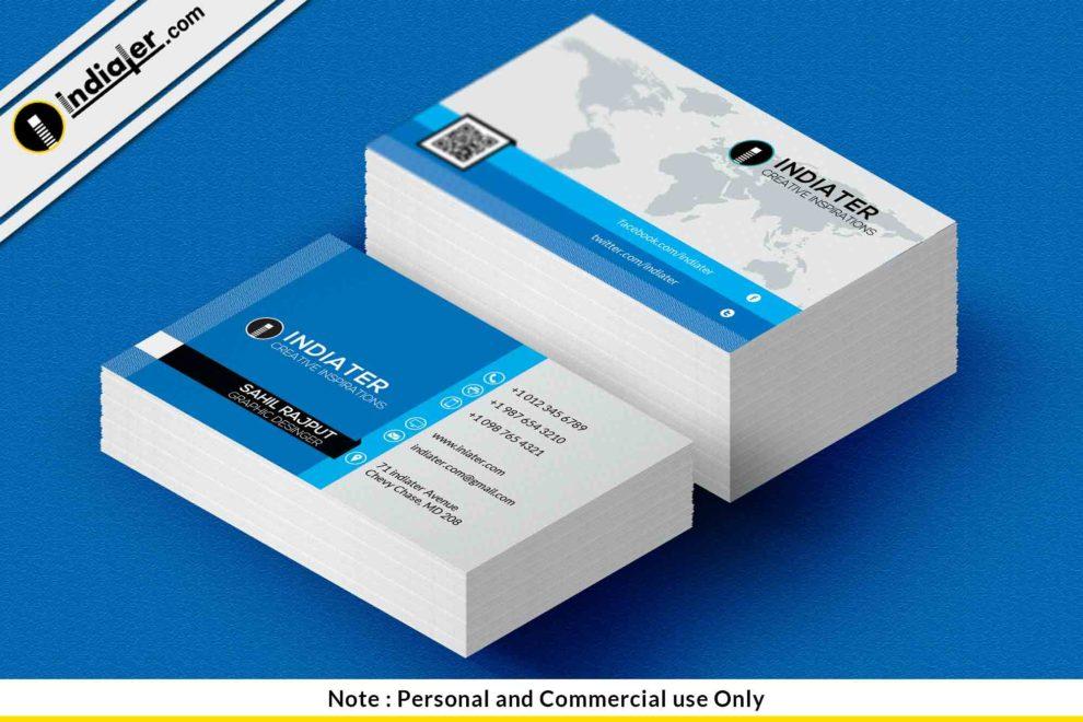 Free Best Salesman Business Card Psd Template Indiater