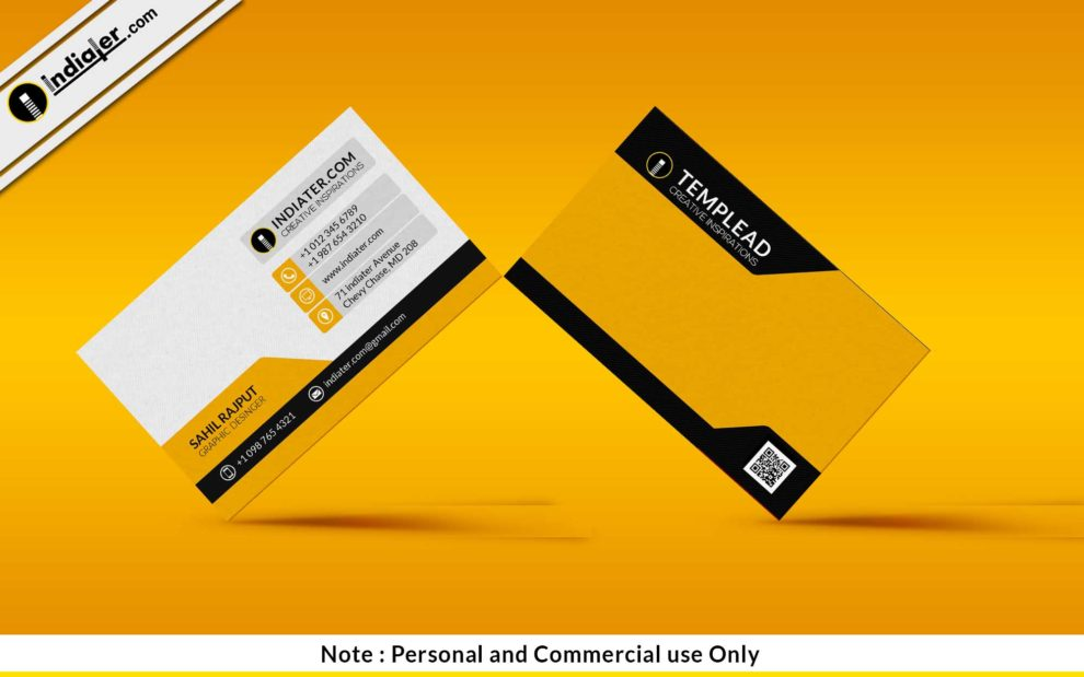 Free classic yellow business card psd template indiater free classic yellow business card psd template reheart Images