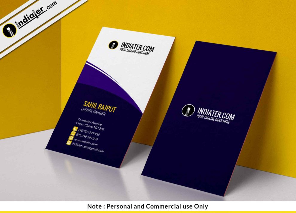 Free clean stylish corporate business card template indiater free clean stylish corporate business card template friedricerecipe Gallery