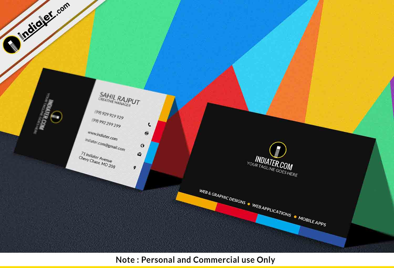 business card presentation template psd - free creative marketing business card psd template indiater