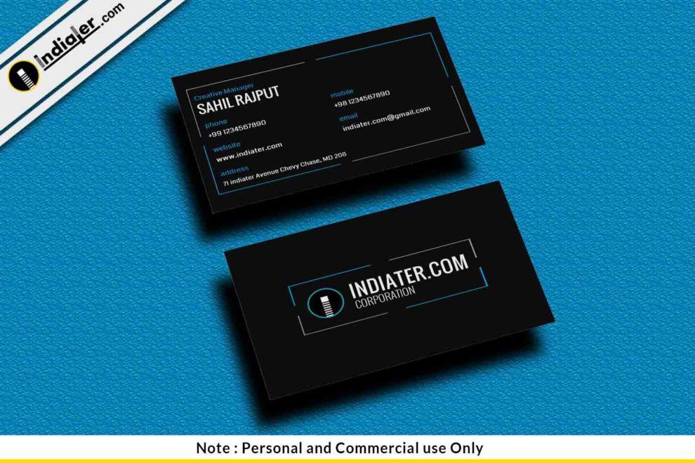 Free black business card psd template indiater free black business card psd template reheart Gallery