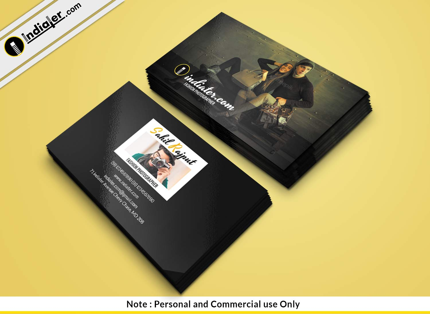 Indiater free fashion photographer business card psd template free fashion photographer business card psd template reheart Image collections