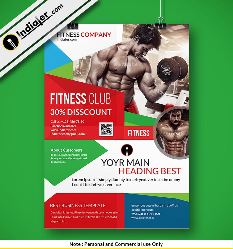 free gym flyer design psd template indiater
