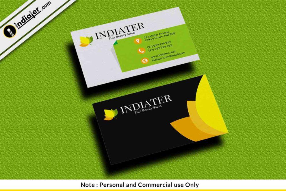 Free Hair Stylist Salon Business Card Psd Template