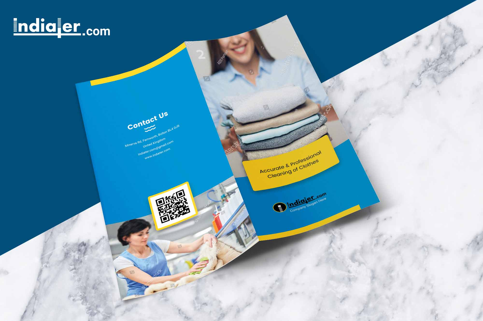 free-laundry-and-drycleaners-bi-fold-brochure-psd-front