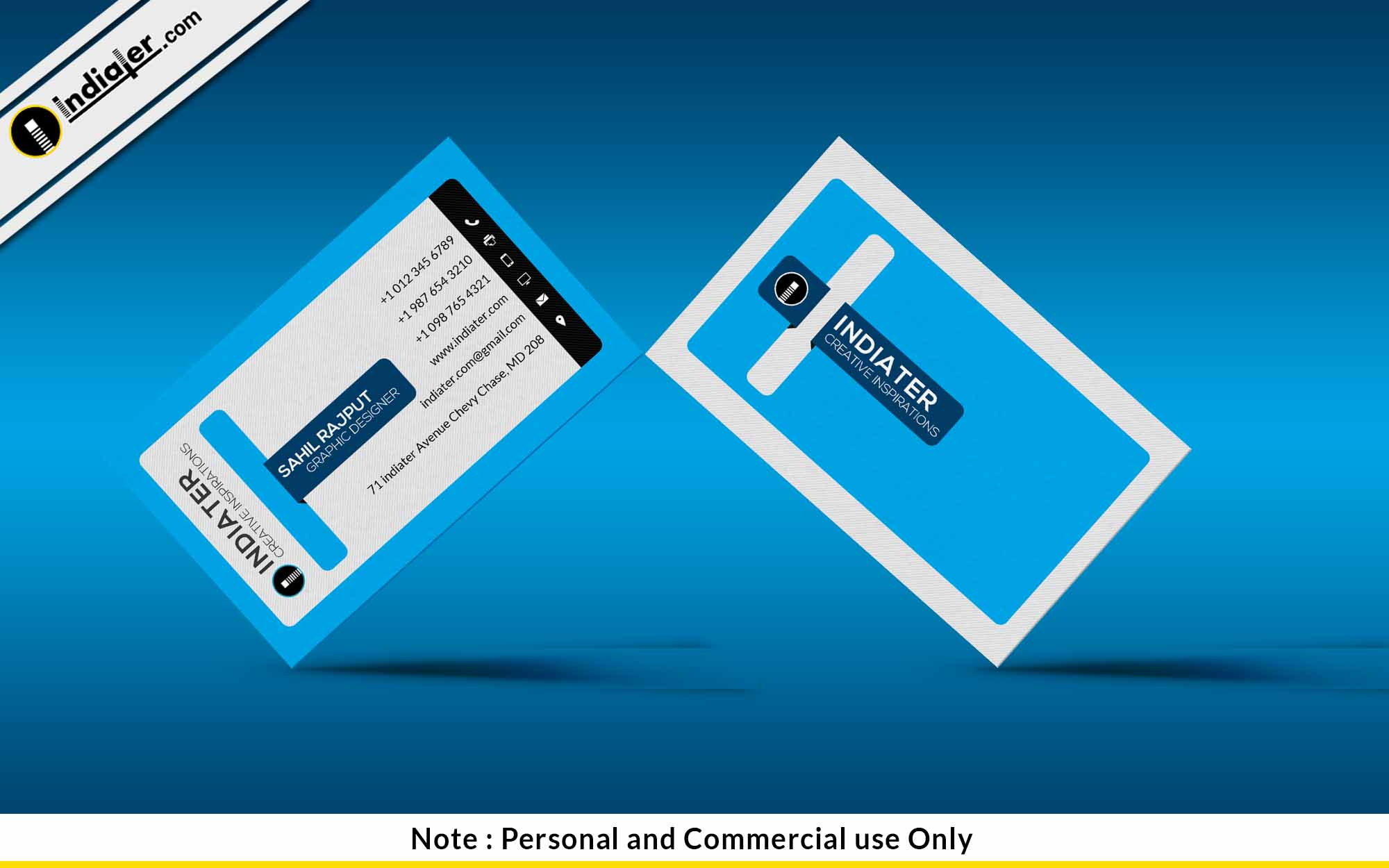 indiater free medical business card psd template indiater