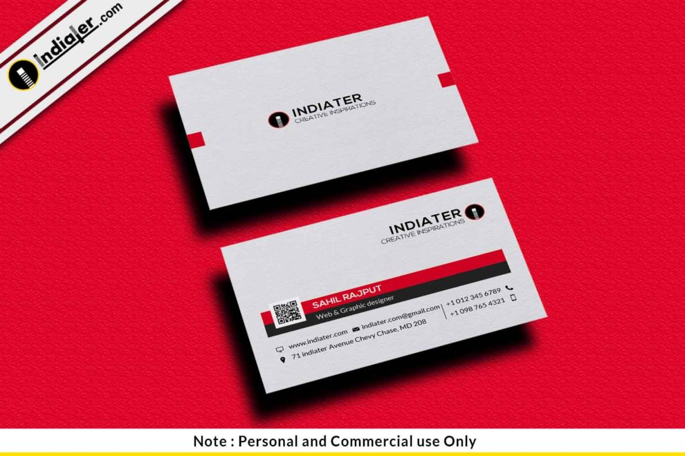 Free Modern Artist Business Card Psd Template Indiater