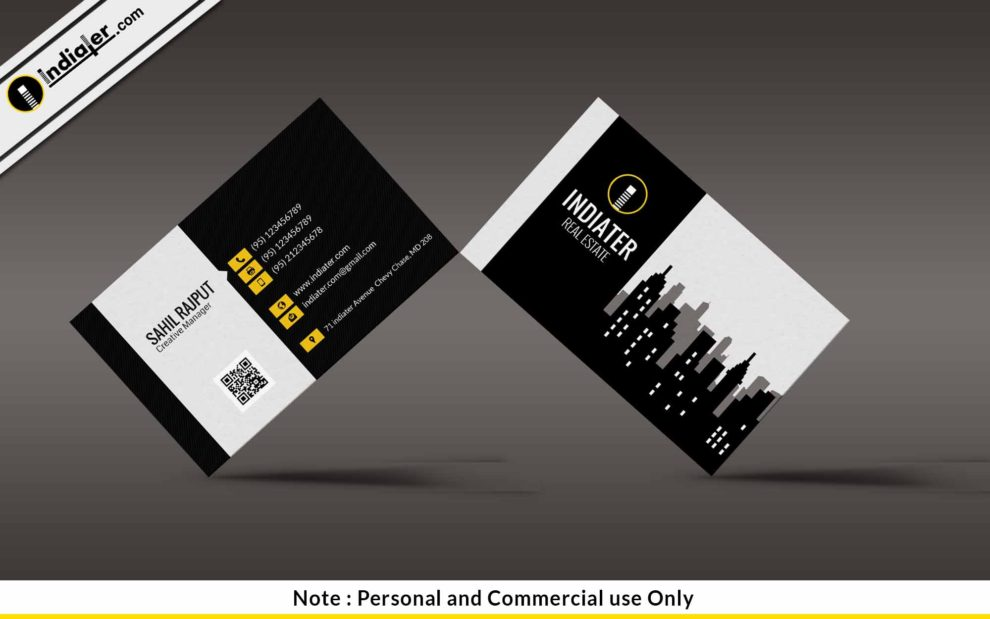 Free modern real estate business card psd template indiater free modern real estate business card psd template wajeb
