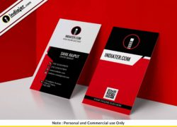 free-modern-simple-red-vertical-business-card-psd-template