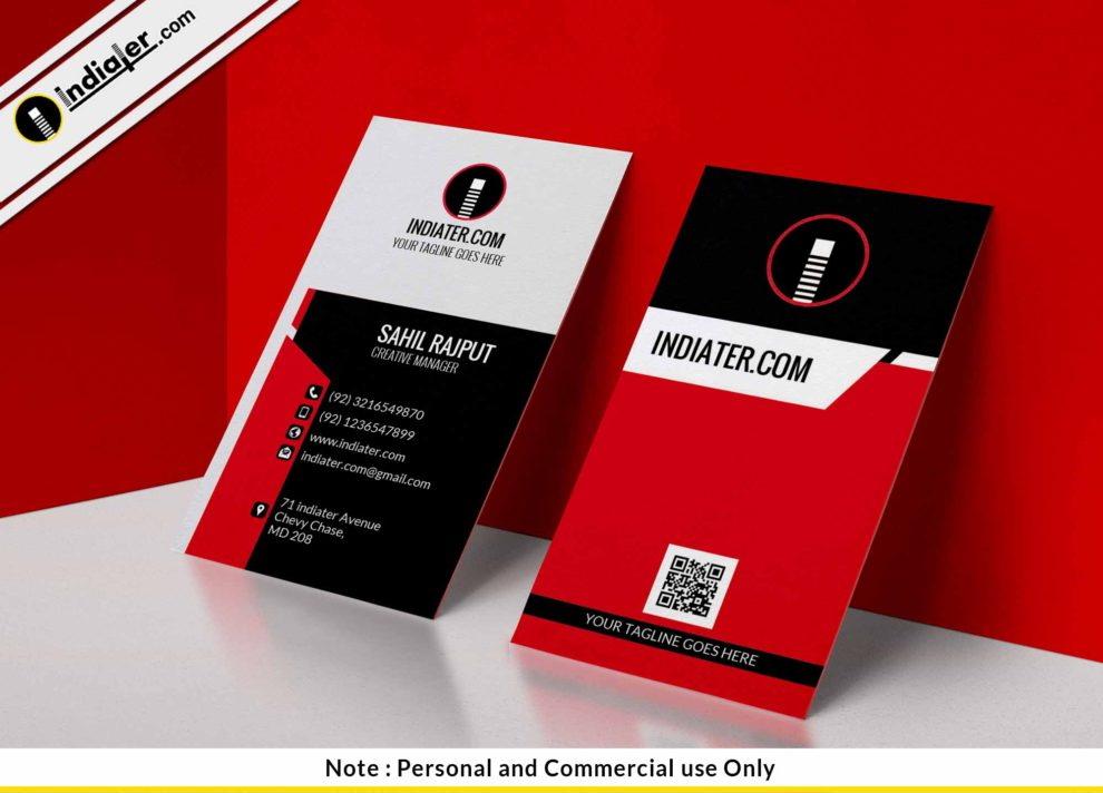 Free modern simple red vertical business card psd template indiater free modern simple red vertical business card psd wajeb Image collections
