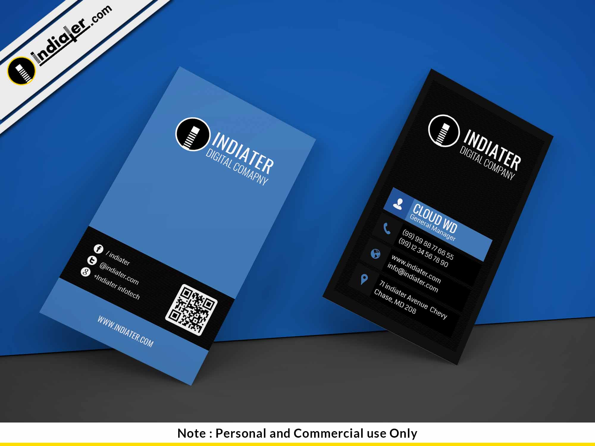 free photoshop business card template indiater