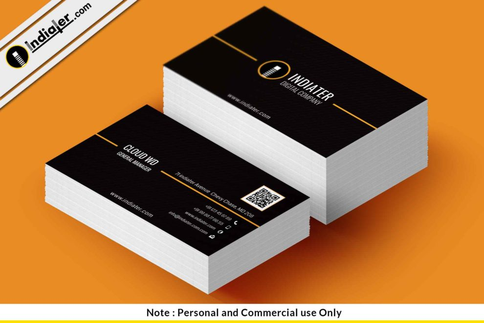 Free professional business card template indiater free professional business card template accmission Gallery