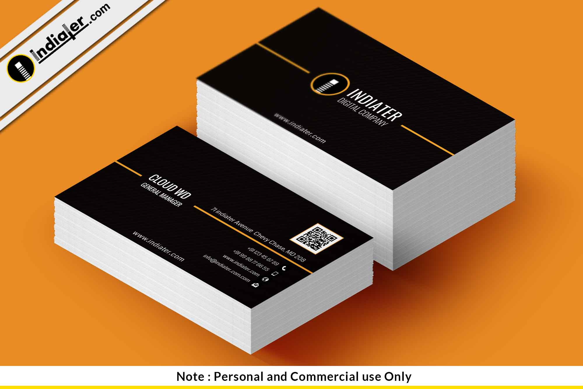 free professional business card template indiater