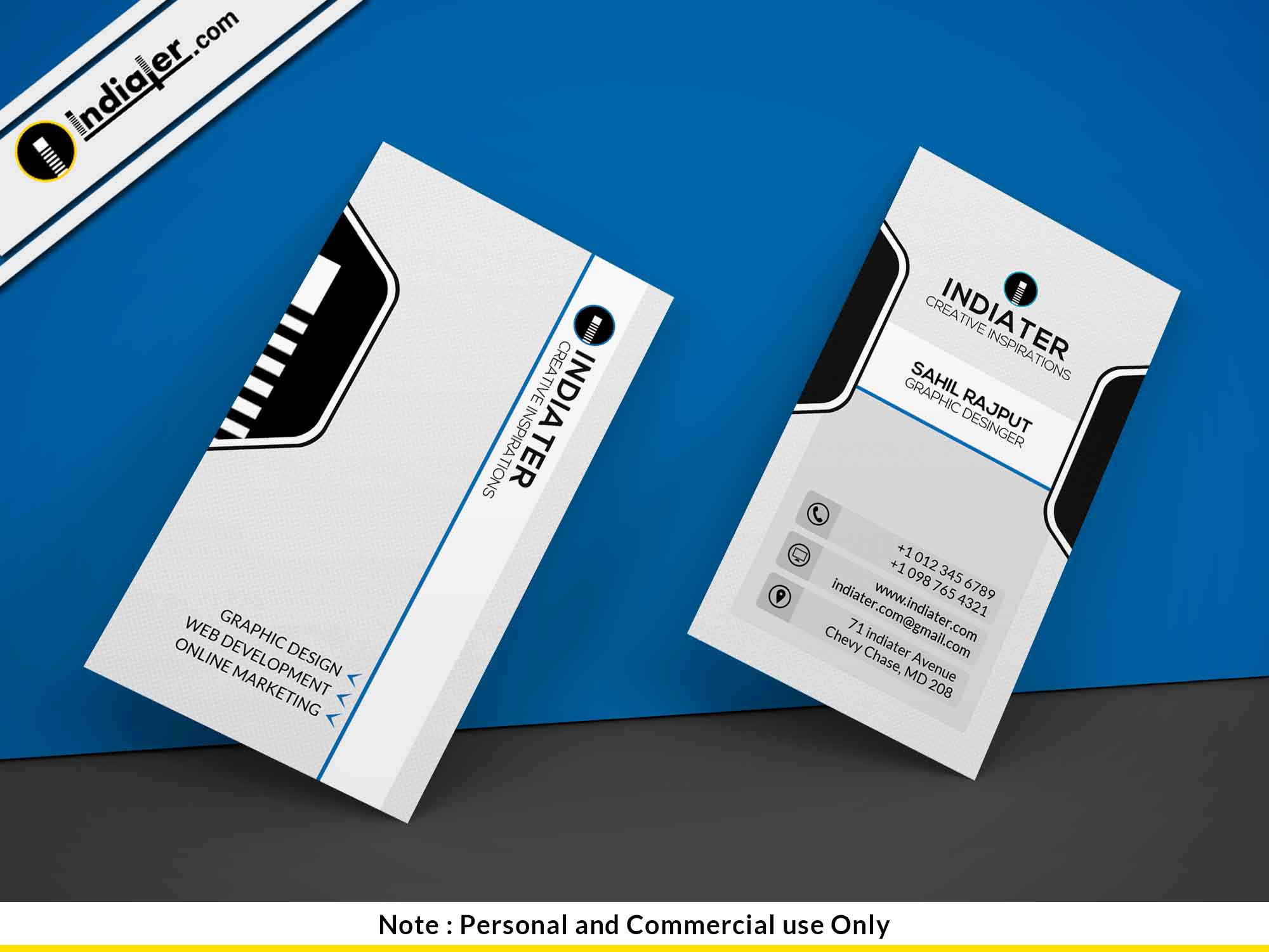 healthcare-clinic-vertical-business-card-psd-template