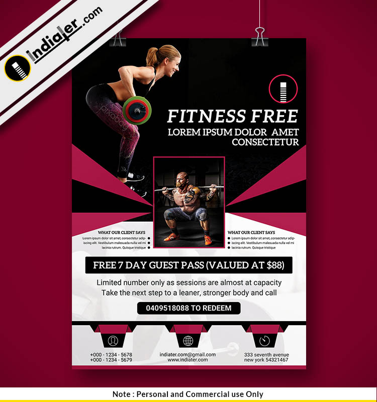 pamphlet design for gym psd template indiater