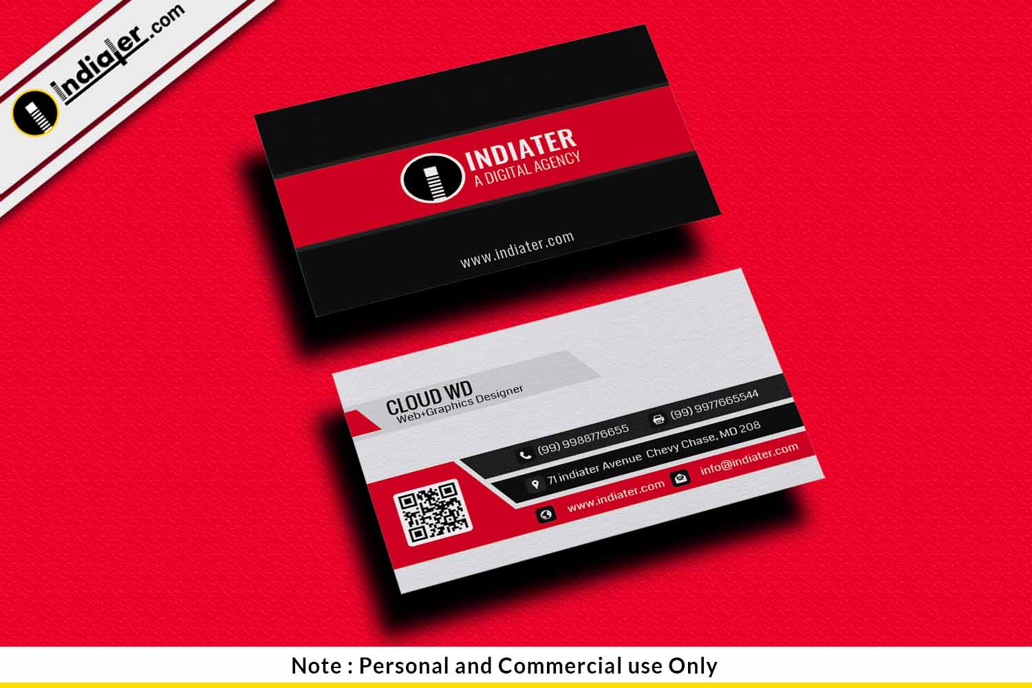 personal business cards free psd templates