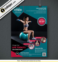 personal-training-for-fitness-gym-flyers-psd