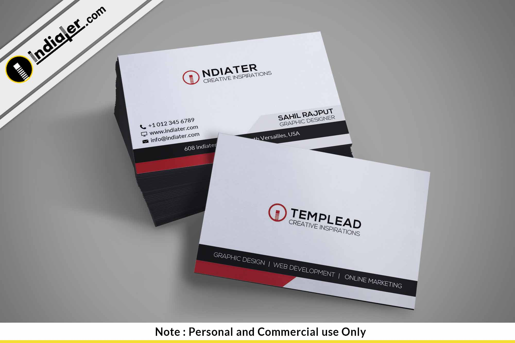 professional business cards psd template indiater. Black Bedroom Furniture Sets. Home Design Ideas