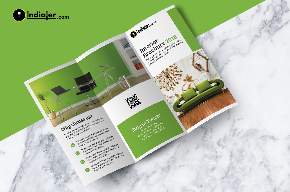 trifold interior design brochures psd free
