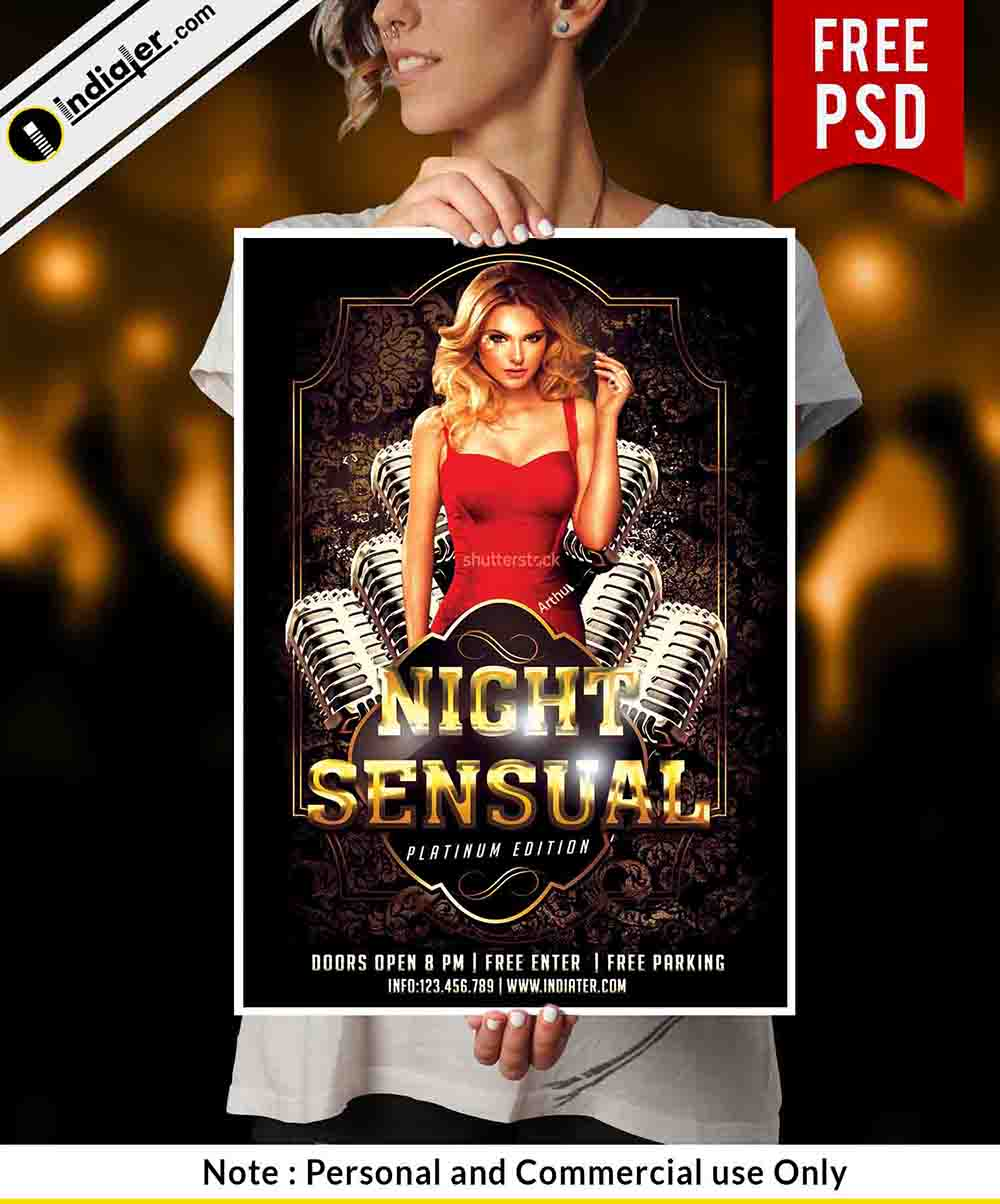 free-cosmic-party-flyer-psd-template