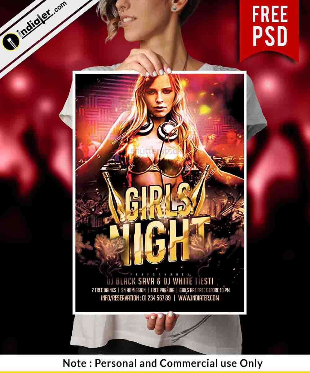 free-girls-night-party-psd-flyer-template
