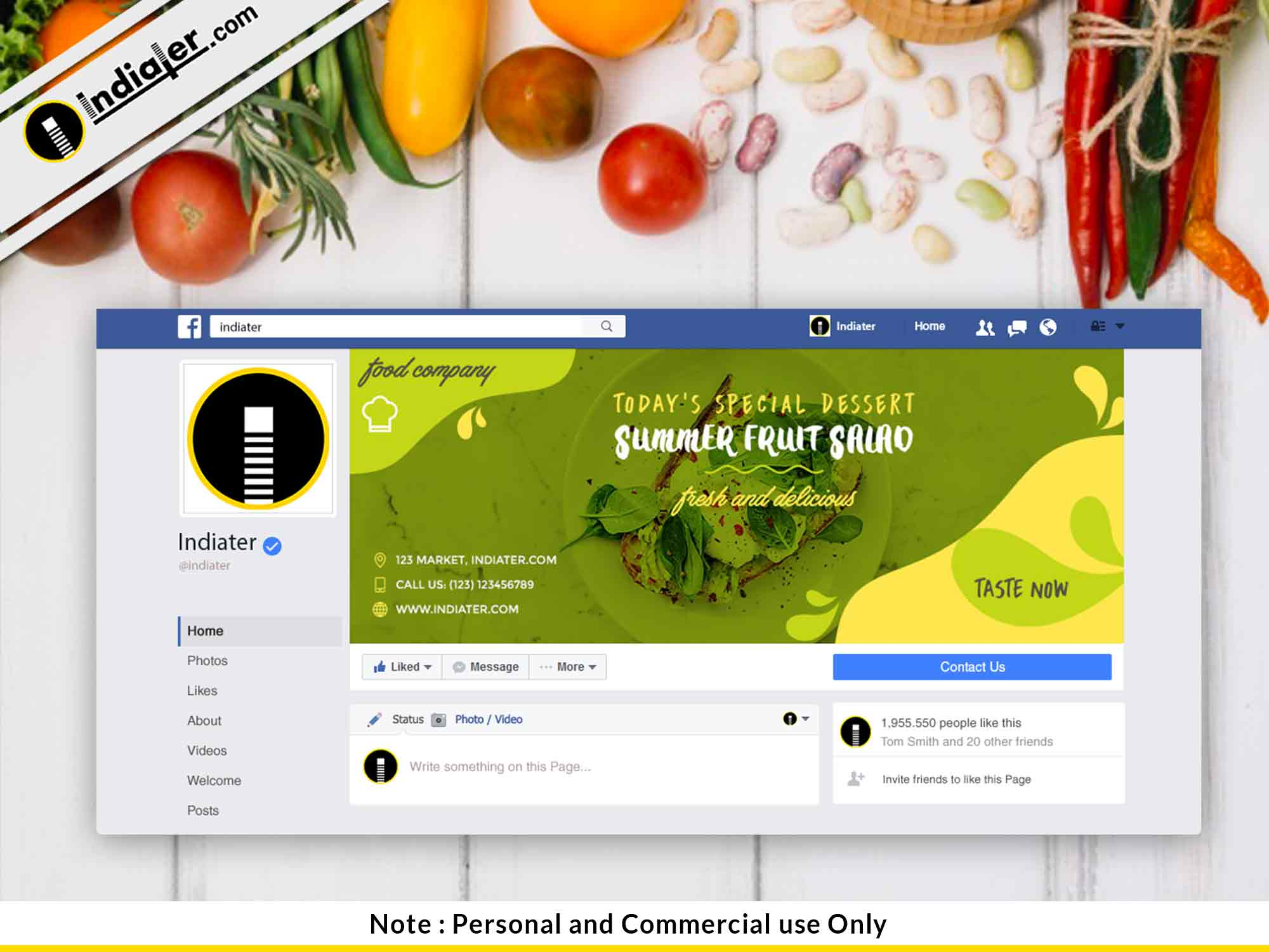 free-food-restaurants-facebook-cover-psd