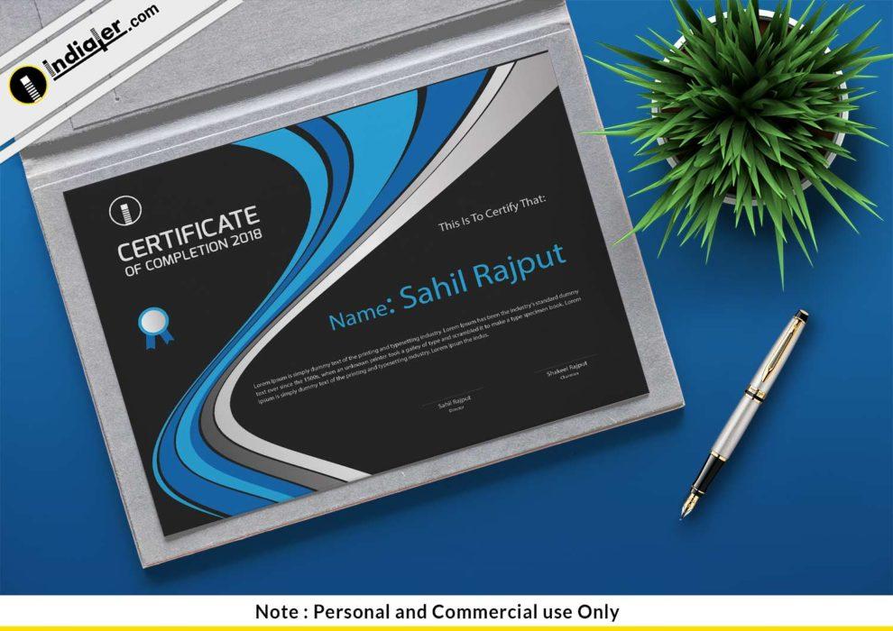 Free Certificate Of Appreciation Psd Template Indiater