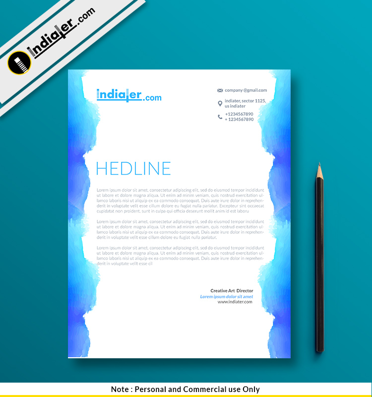 Corporate Psd Letterhead Template Psd File: Free Corporate Letterhead PSD Template