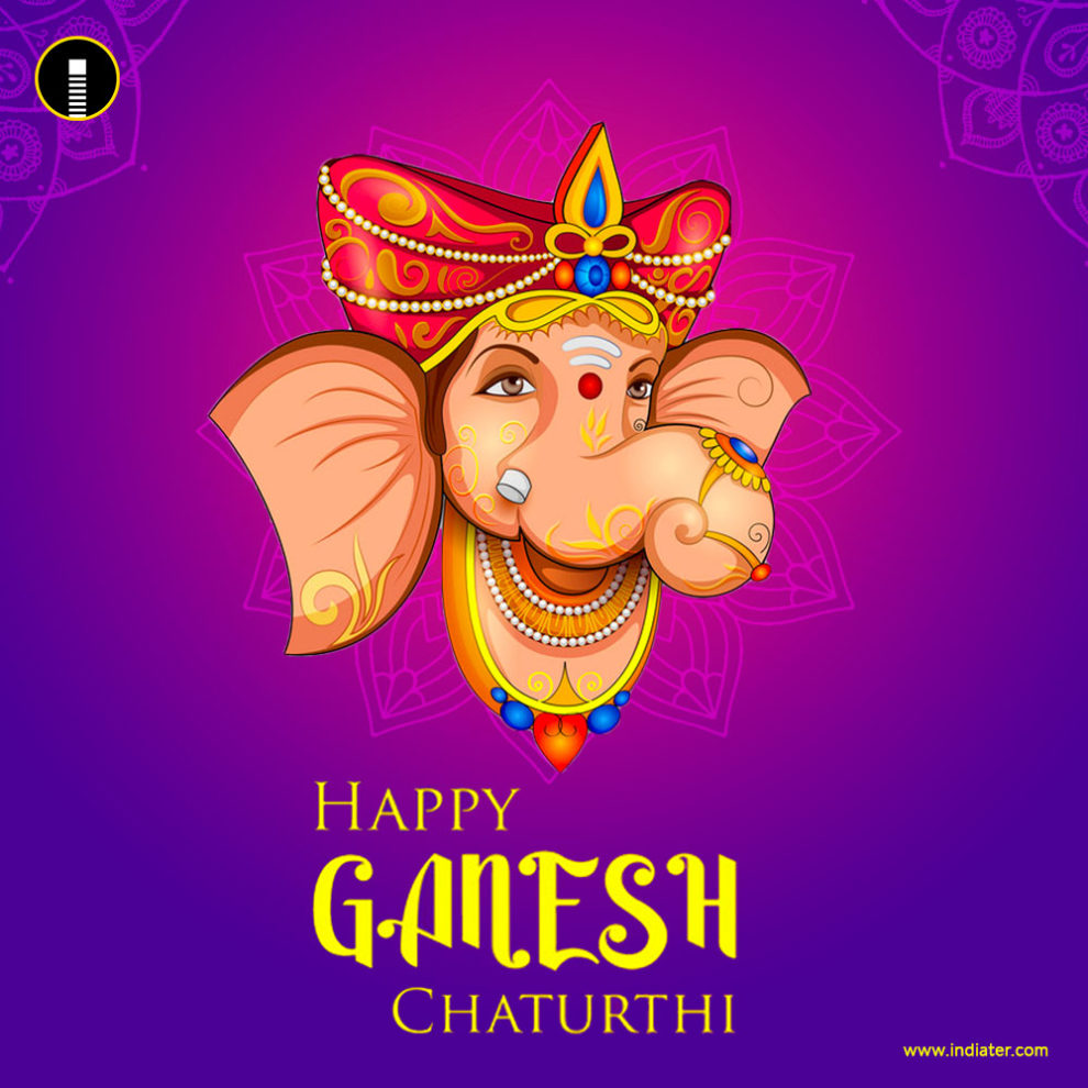 Free Happy Ganesh Chaturthi Wishes Greetings Card Psd Indiater
