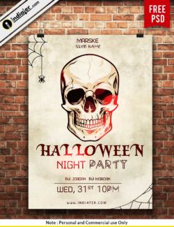 free-scary-halloween-night-party-poster-design