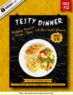 free-tasty-dinner-restaurant-advertising-flyers-template